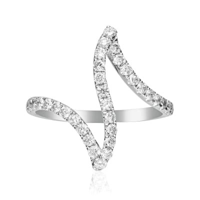 .60 ct. t.w. Diamond Zigzag Ring in 14kt White Gold