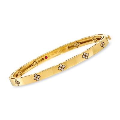 "Roberto Coin ""Love in Verona"" .15 ct. t.w. Diamond Bracelet in 18kt Yellow Gold"