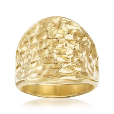 Italian Andiamo 14kt Yellow Gold Concave Ring