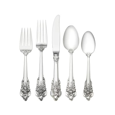 """Wallace """"Grande Baroque"""" Sterling Silver Place Setting"""