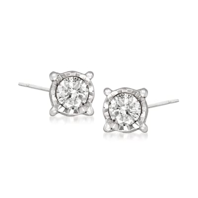 .10 ct. t.w. Diamond Stud Earrings in Sterling Silver