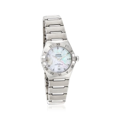 Omega Constellation Women's 29mm Automatic Stainless Steel Watch with Mother-Of-Pearl