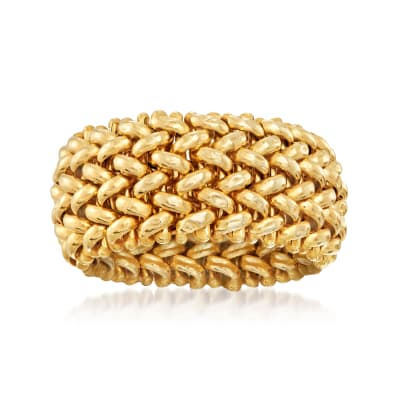 Italian 14kt Yellow Gold Riso-Link Ring