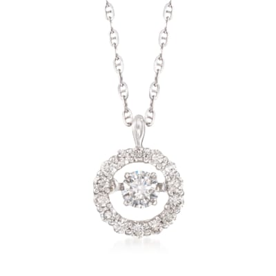 .41 ct. t.w. Floating Diamond Halo Pendant Necklace in 14kt White Gold
