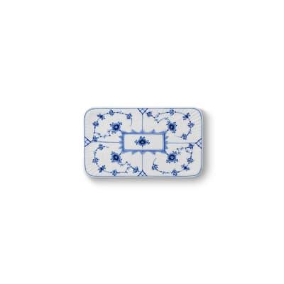 "Royal Copenhagen ""Blue Fluted Plain"" Porcelain Buttering Board"