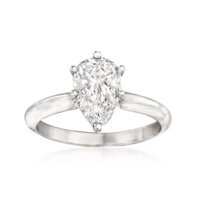 1.52 Carat Certified Diamond Engagement Ring in 14kt White Gold