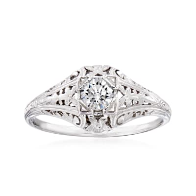 C. 2000 Vintage .30 Carat Diamond Ring in 14kt White Gold