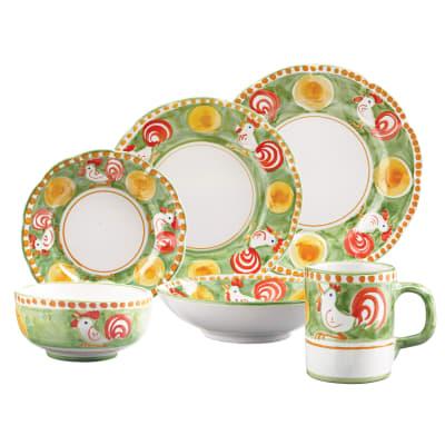 "Vietri ""Campagna Gallina"" Dinnerware from Italy"