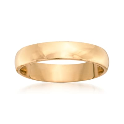 Women's 4mm 14kt Yellow Gold Wedding Ring