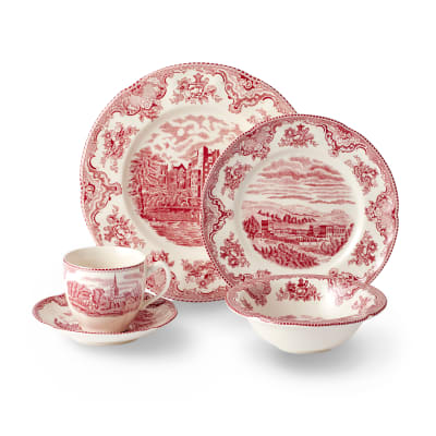 "Johnson Brothers ""Old Britain Castles Pink"" Earthenware Dinnerware"