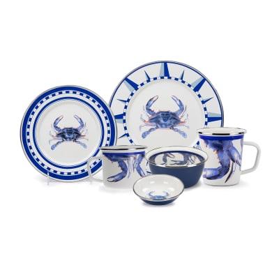 "Golden Rabbit ""Blue Crab"" Dinnerware"