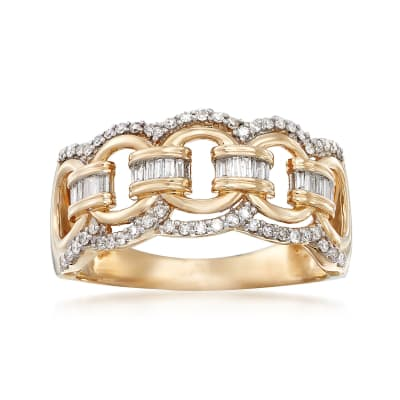 .33 ct. t.w. Diamond Circle-Link Ring in 14kt Yellow Gold