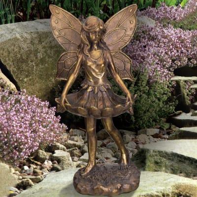 Regal Fairy Skirt Bird Feeder Outdoor Statue