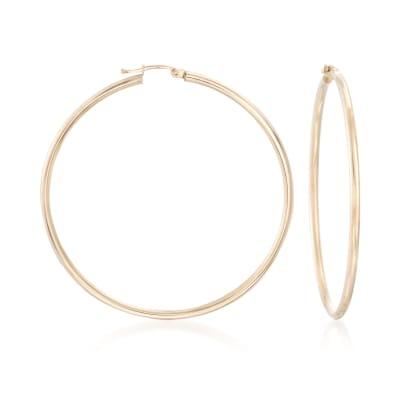 60mm 14kt Yellow Gold Hoop Earrings