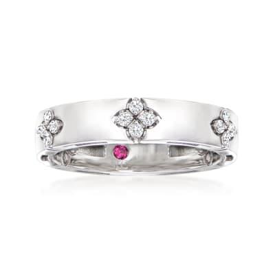 "Roberto Coin ""Love in Verona"" .15 ct. t.w. Diamond Ring in 18kt White Gold"