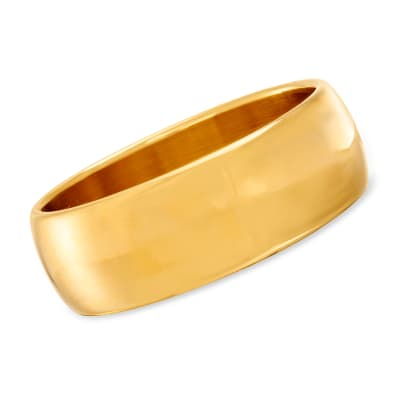 Italian Andiamo 14kt Yellow Gold Over Resin Bangle Bracelet