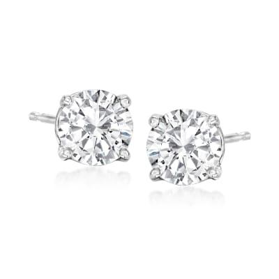 1.50 ct. t.w. Diamond Stud Earrings in Platinum