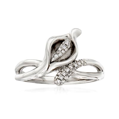 .10 ct. t.w. Diamond Lily Ring in Sterling Silver