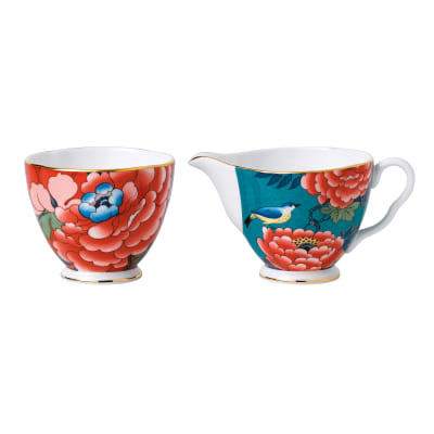 "Wedgwood ""Paeonia Blush"" Cream and Sugar Set"