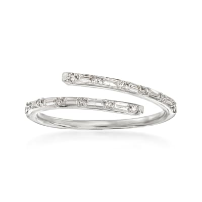 .23 ct. t.w. Diamond Bypass Ring in 14kt White Gold