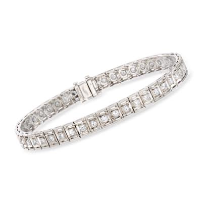 C. 1950 Vintage 2.10 ct. t.w. Diamond Bracelet in Platinum