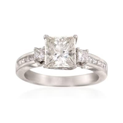C. 2000 Vintage 2.57 ct. t.w.  Diamond Ring in Platinum