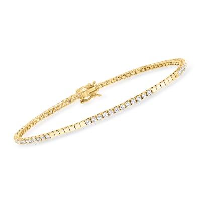 1.00 ct. t.w. Diamond Bracelet in 14kt Yellow Gold