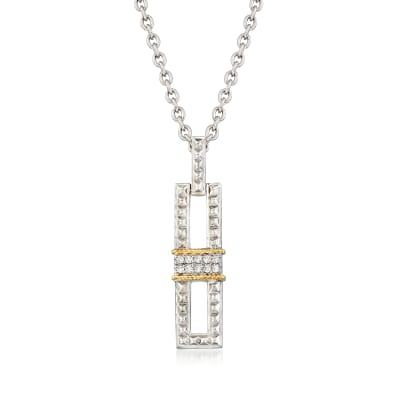 "Andrea Candela ""La Romana"" .14 ct. t.w. Diamond Necklace in Sterling Silver and 18kt Gold"