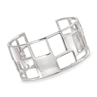 "Zina Sterling Silver ""Windows"" Cuff Bracelet"