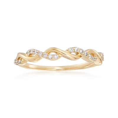 .12 ct. t.w. Diamond Twist Ring in 14kt Yellow Gold