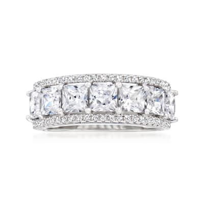 3.30 ct. t.w. Princess-Cut CZ Ring in Sterling Silver