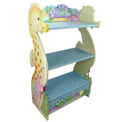 "Child's ""Under the Sea"" Wooden Bookshelf"
