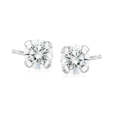 C. 1990 Vintage .25 ct. t.w. Diamond Stud Earrings in 14kt White Gold