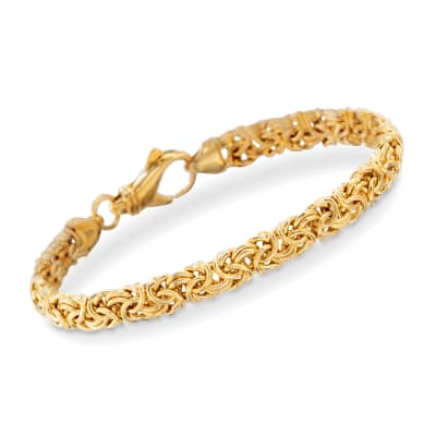 18kt Gold Over Sterling Small Byzantine Bracelet