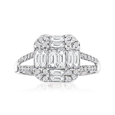 .87 ct. t.w. Diamond Cluster Ring in 18kt White Gold