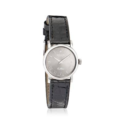 Pre-Owned Rolex Cellini Women's 25mm Stainless Steel and 18kt White Gold Watch