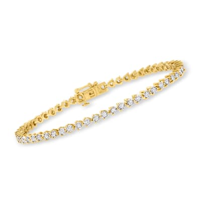1.00 ct. t.w. Diamond Tennis Bracelet in 18kt Gold Over Sterling