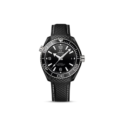 Omega Seamaster Planet Ocean Men's 40mm Automatic Black Ceramic and 18kt White Gold Watch