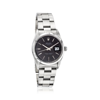 Pre-Owned Rolex Date Men's 34mm Automatic Stainless Steel Watch