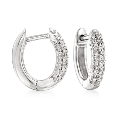 .10 ct. t.w. Diamond Huggie Hoop Earrings