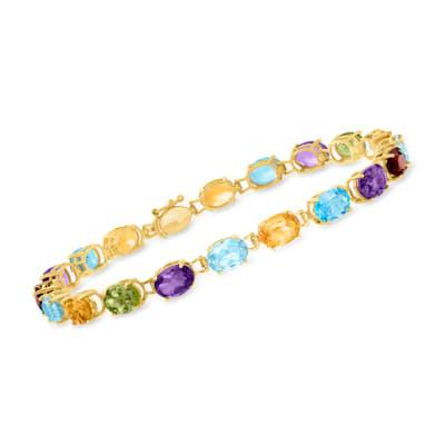 16.30 ct. t.w. Multi-Gemstone Bracelet in 14kt Yellow Gold