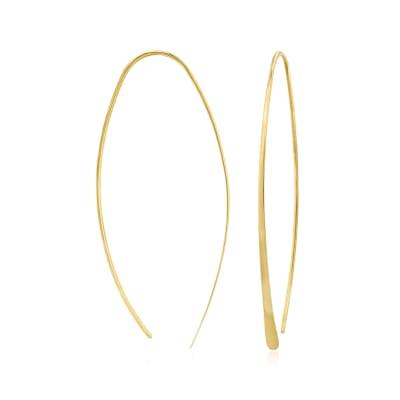 14kt Yellow Gold Linear Threader Earrings