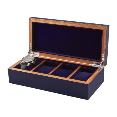 Blue Wooden Watch Box