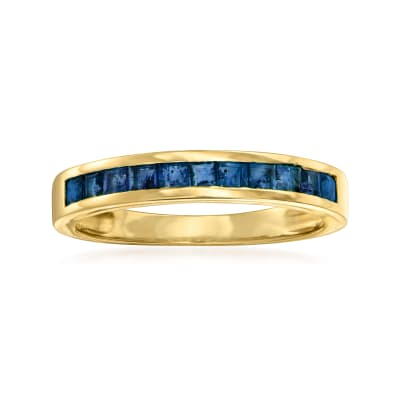 .70 ct. t.w. Sapphire Ring in 14kt Yellow Gold