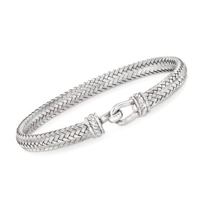 Italian Sterling Silver Horsebit Bracelet