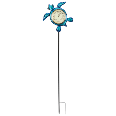 Regal Sea Turtle Thermometer Solar Garden Stake