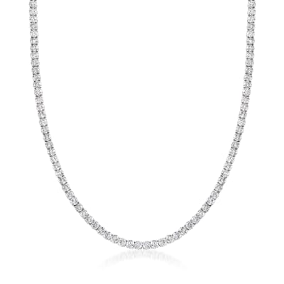 30.00 ct. t.w. Diamond Tennis Necklace in 14kt White Gold