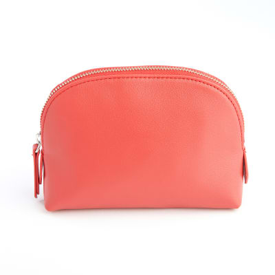 Royce Red Leather Cosmetic Case