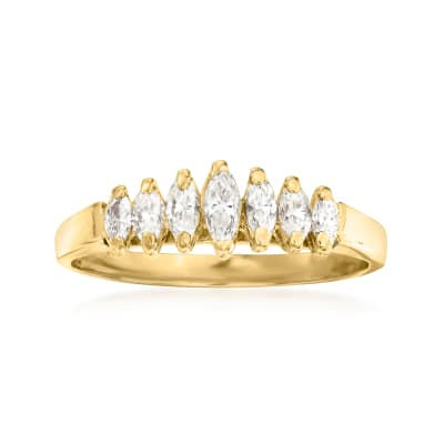 C. 1980 Vintage .40 ct. t.w. Diamond Multi-Stone Ring in 14kt Yellow Gold