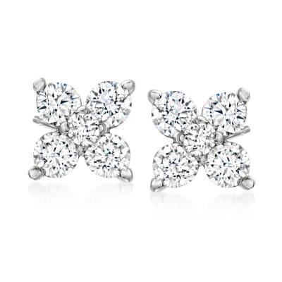 .30 ct. t.w. Diamond Quad Stud Earrings in 14kt White Gold